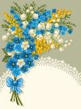 Gulligt hälsningkort Royaltyfri Fotografi
