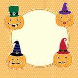 Gulligt Halloween kort Royaltyfria Bilder