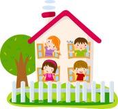 gulligt hus royaltyfri illustrationer
