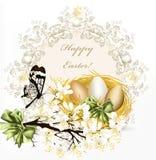 Gulligt klart blom- fjädrar vektorbakgrund med blomstra kli royaltyfri illustrationer