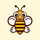 gulligt klipskt honungsökande för bi till Arkivfoto