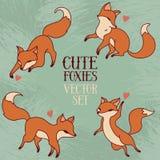 Gulligt klotter som spelar foxies Royaltyfri Fotografi