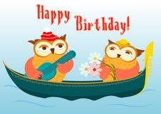 Gulligt kort för lycklig födelsedag Arkivbilder