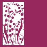 Gulligt kort med blommor. Royaltyfri Fotografi