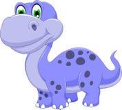 Gulligt le för dinosaurietecknad film vektor illustrationer