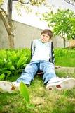 gulligt le för pojke Royaltyfria Bilder