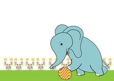 Gulligt leka för elefant klumpa ihop sig Royaltyfri Fotografi