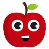 Gulligt lyckligt äpple Arkivfoton
