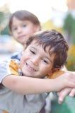 gulligt lyckligt för barn Royaltyfri Fotografi
