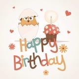 gulligt lyckligt för födelsedagkort Royaltyfri Foto