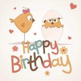 gulligt lyckligt för födelsedagkort Royaltyfria Foton