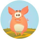 gulligt piggy royaltyfri illustrationer