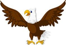 Gulligt posera för Eagle tecknad film Royaltyfri Bild
