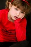 Gulligt posera för liten flicka Fotografering för Bildbyråer