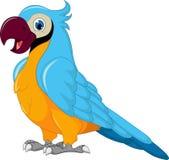 Gulligt posera för papegojatecknad film royaltyfri illustrationer