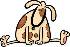 gulligt prickigt hundklotter för tecknad film Royaltyfria Bilder