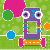 Gulligt robothälsningkort Arkivbilder