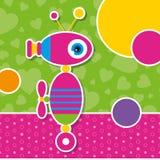 Gulligt robothälsningkort Royaltyfri Fotografi