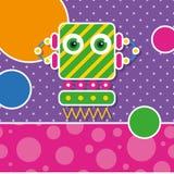 Gulligt robothälsningkort Arkivfoton