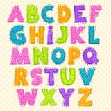 Gulligt roligt barnsligt alfabet royaltyfri illustrationer