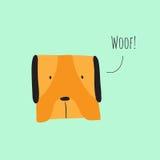 Gulligt skälla för hund Royaltyfria Foton