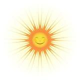 Gulligt solleende Stock Illustrationer