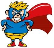 gulligt superboy för tecknad film Arkivfoton