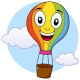 Gulligt tecken för tecknad film för ballong för varm luft Fotografering för Bildbyråer