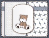 Gulligt Teddy Bear hälsningkort Royaltyfria Foton