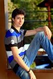 gulligt teen för pojke Fotografering för Bildbyråer