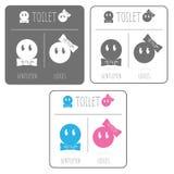 Gulligt toaletttecken Royaltyfri Fotografi