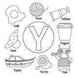 Gulligt ungealfabet för vektor stock illustrationer