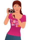 Kvinnafotograf Fotografering för Bildbyråer