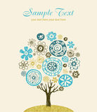 Gulligt utsmyckat träd royaltyfri illustrationer