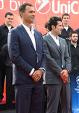 Gullit and Figo. Ruud Gullit and Luis Figo at the opening of UEFA Champions League Trophy Tour held in oktober 2011,in Belgrade, Serbia, below Kalemegdan Stock Photos