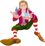 Gulliver. Holds Lilliputians on his hands Royalty Free Stock Photography