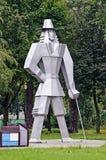Gulliver rzeźba w parku w Gomel Obraz Royalty Free