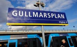 Gullmarsplan subway station Stock Image