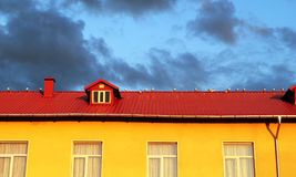 Gulls on the roof Stock Photography