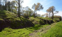 Gully Terrain. This is a Spring picture of Mississippi gully terrain in Caiborne County, Mississippi. This picture was taken on March 28, 2015 royalty free stock images