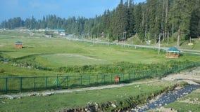 Gulmarg golf som malas i Kashmir Royaltyfri Fotografi