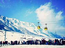 Gulmarg gondola in Kashmir India Stock Photo