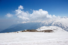 Gulmarg, line of control, India Pakistan border. Gularm, the Line of Control or LoC is the India and Pakistan border. Situated in the hilly mountains of Jammu Stock Photo