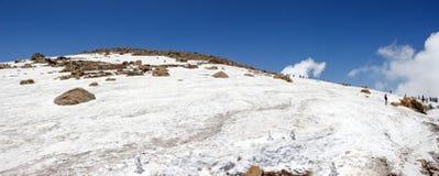 Gulmarg panoramy krajobraz, śnieg, Kaszmir Zdjęcia Stock