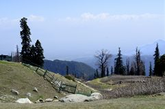Gulmarg in Srinagar is like a piece of heaven in Jammu and Kashmir royalty free stock photos