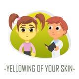 Gulna av ditt hudläkarundersökningbegrepp också vektor för coreldrawillustration Royaltyfria Foton