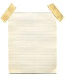 gulna för tappning för notepaper gammalt arkivfoton