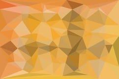 Gulna och gråna den triangulära modellen - triangelmosaik Fotografering för Bildbyråer