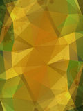 Gulna skrynklig pappers- abstrakt bakgrund Royaltyfri Bild