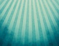 Gulnad blå retro bakgrund med urblekt grunge gränsar och mjuk effekt för blått- och gulingbandsunbursten eller starburstdesignen Arkivbilder